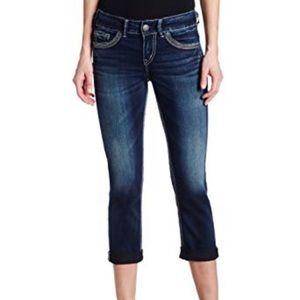 Silver Suki Mid Capri Dark Wash Jeans Size 27